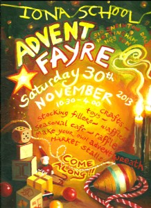 Advent Fayre poster 2013