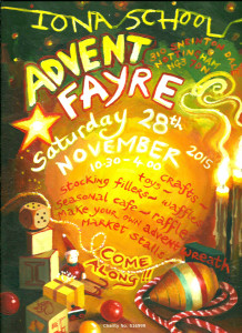 Advent Fayre poster 2015 with charity number