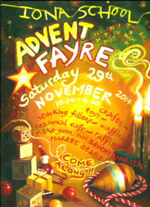Advent Fayre poster 2014